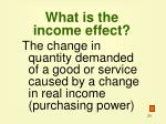 what is the income effect