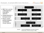 example a sample bsc from literature
