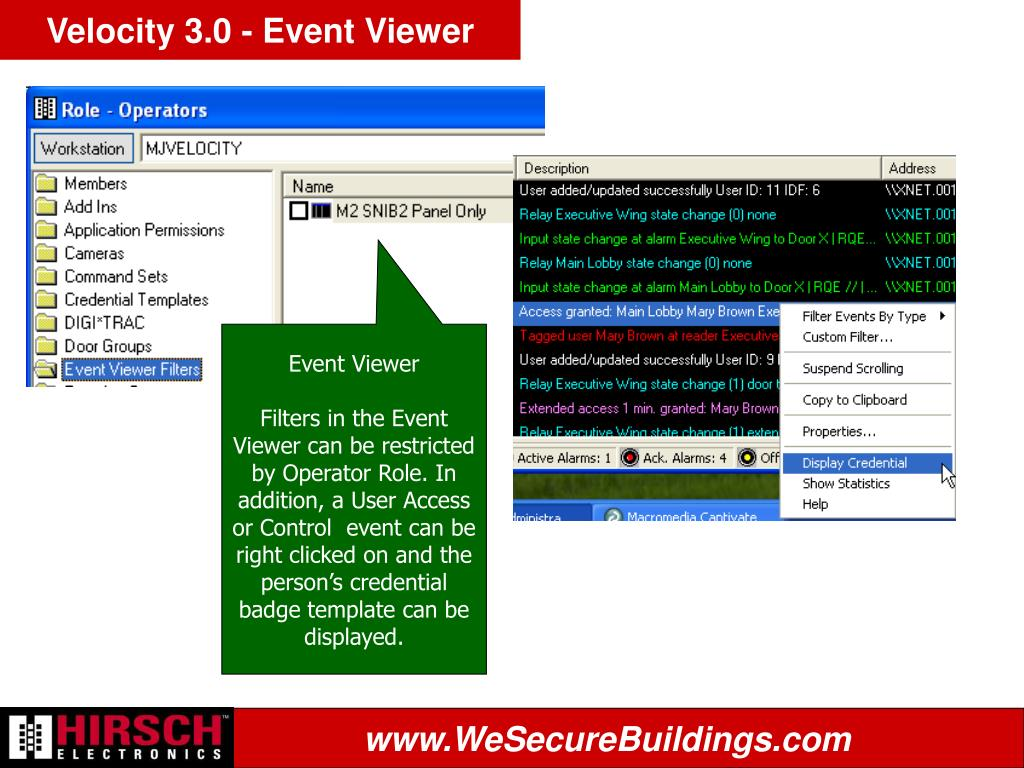 Velocity 3.0 - Event Viewer