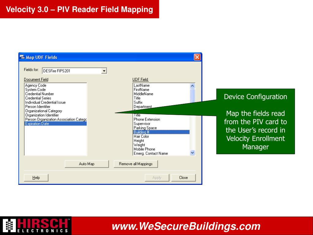 Velocity 3.0 – PIV Reader Field Mapping