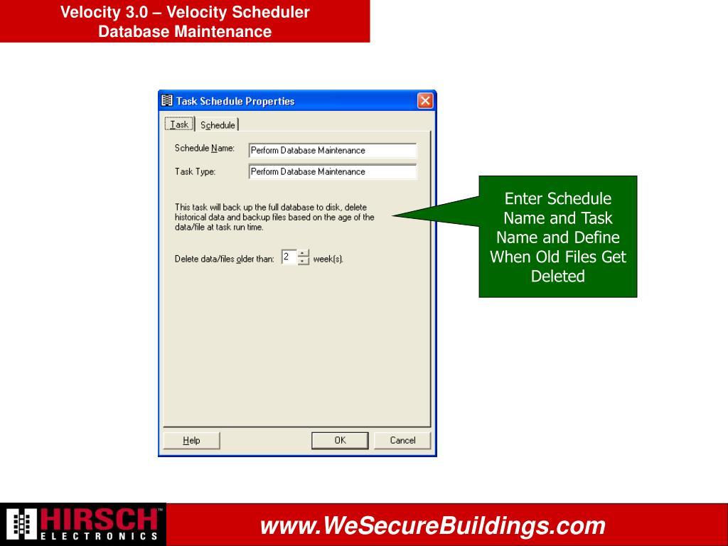 Velocity 3.0 – Velocity Scheduler