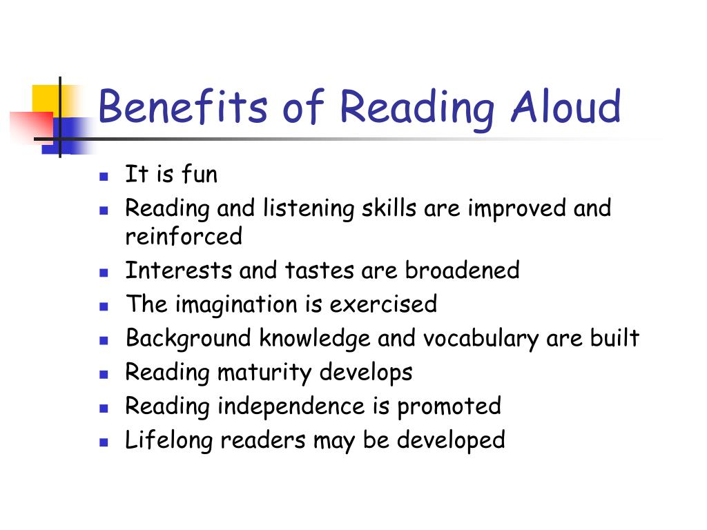 Benefits of Reading Aloud
