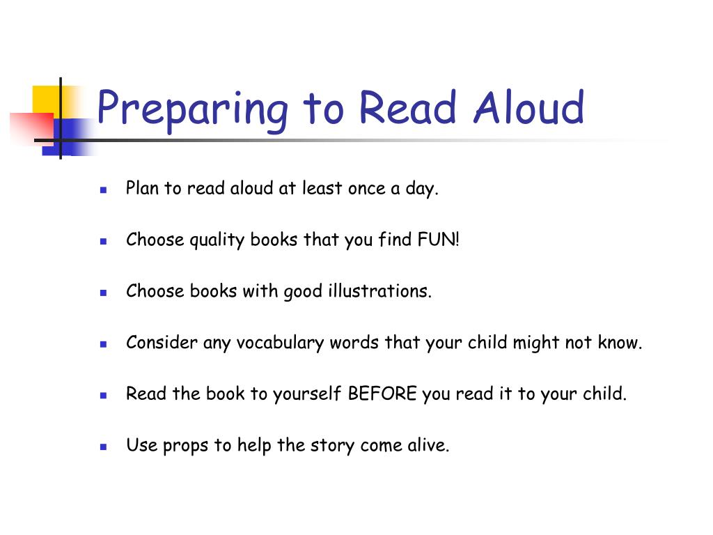 Preparing to Read Aloud