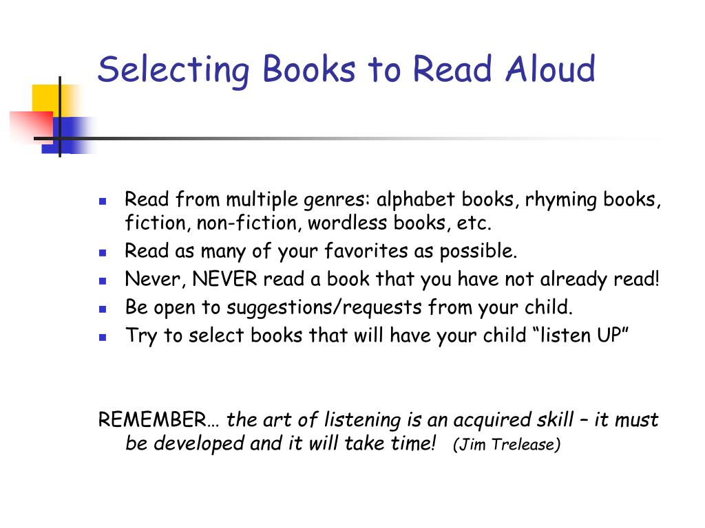 Selecting Books to Read Aloud