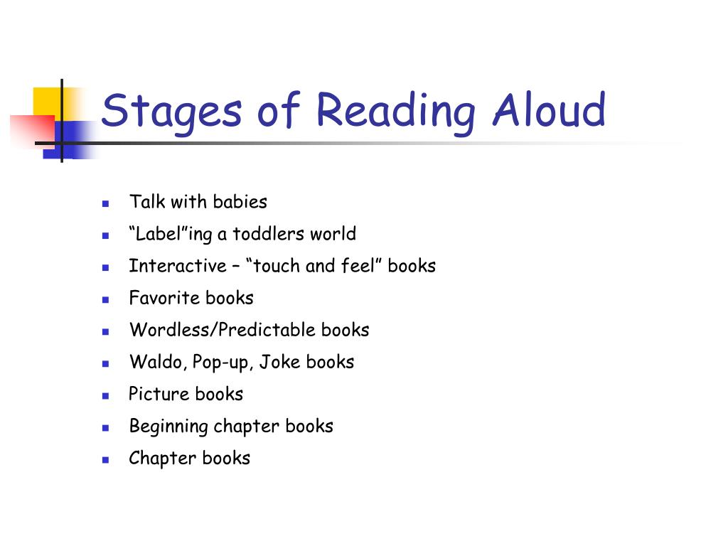 Stages of Reading Aloud