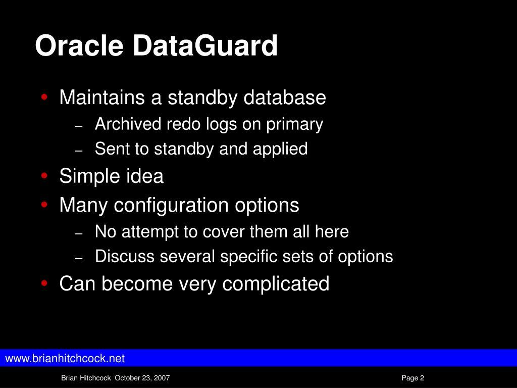 Oracle DataGuard