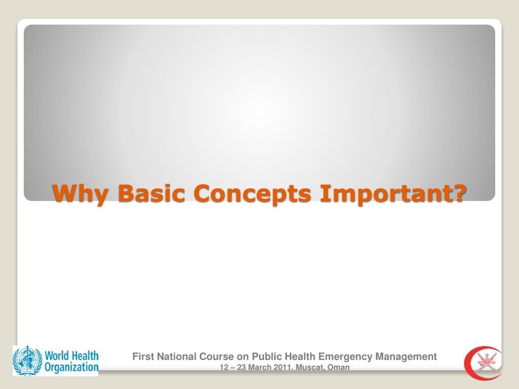 Why Basic Concepts Important?