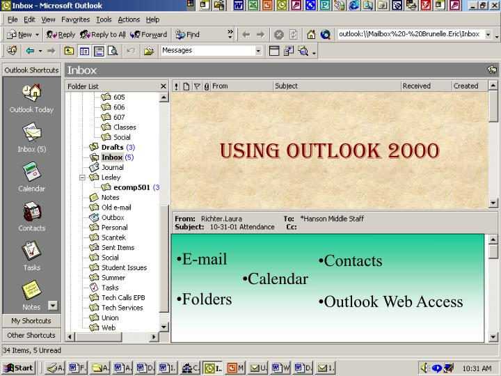 intro outlook show graphics of outlook