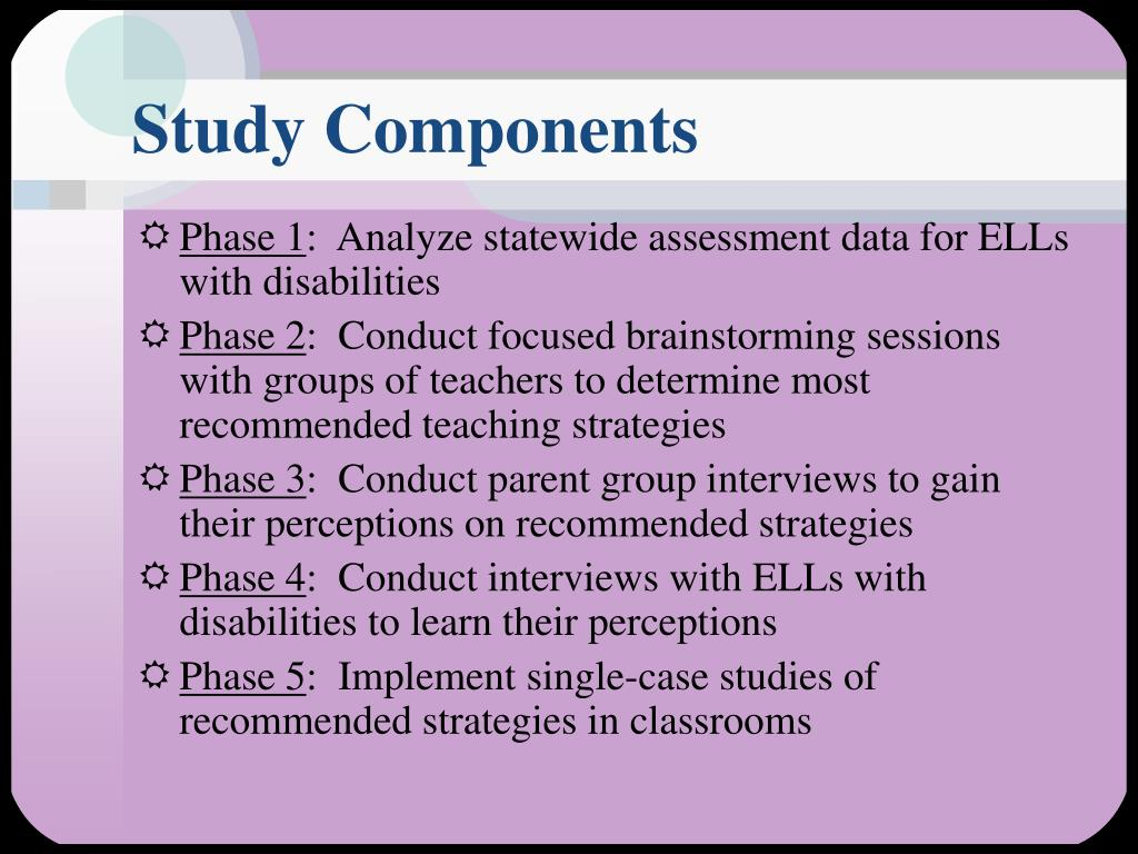 Study Components