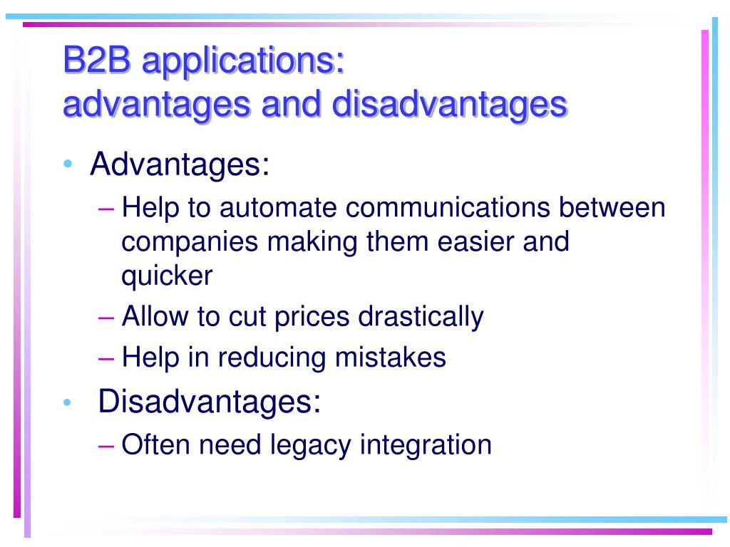 B2B applications: