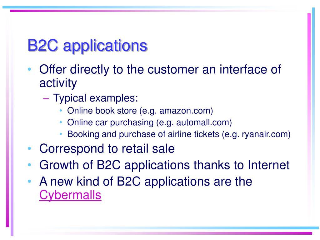 B2C applications