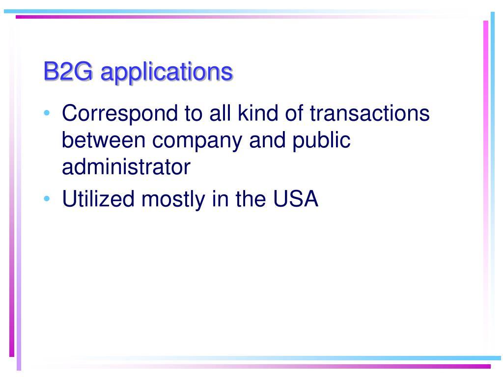 B2G applications