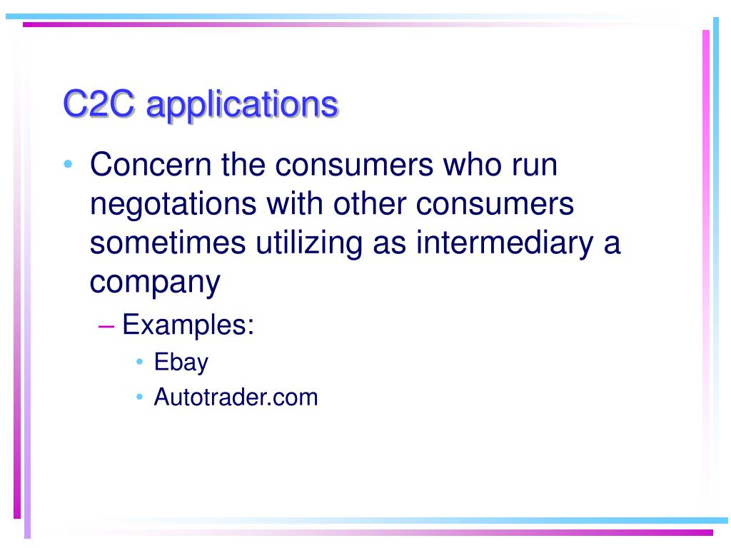 C2C applications