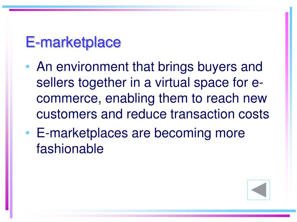 E-marketplace