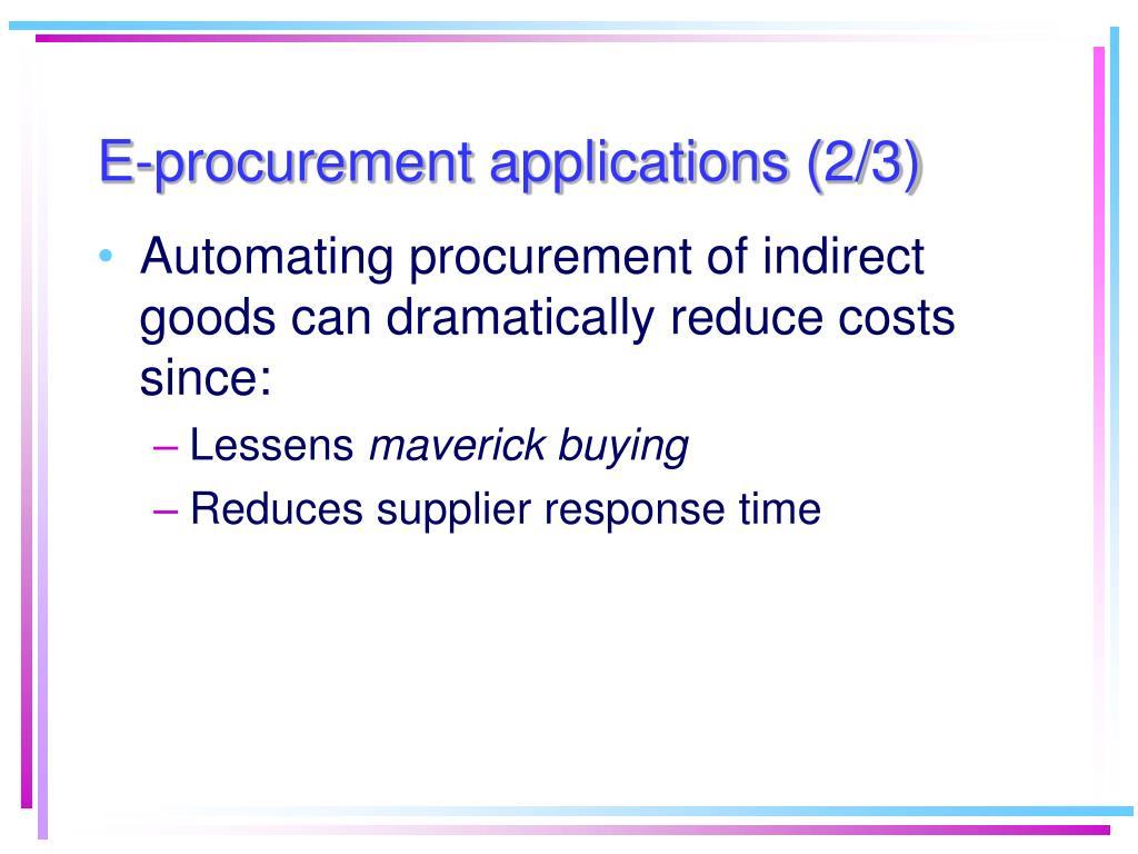 E-procurement applications (2/3)