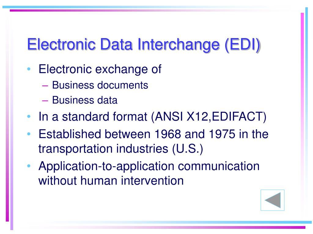 Electronic exchange of