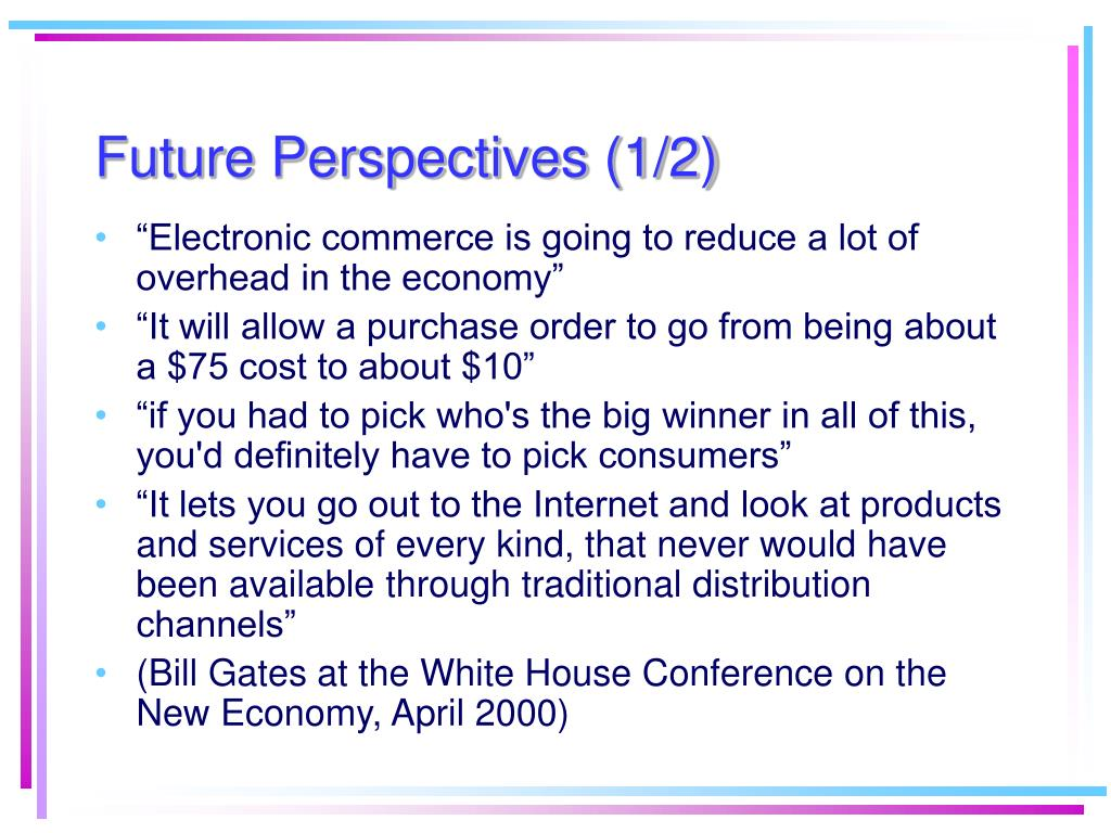 Future Perspectives (1/2)