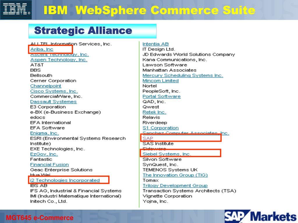 IBM  WebSphere Commerce Suite