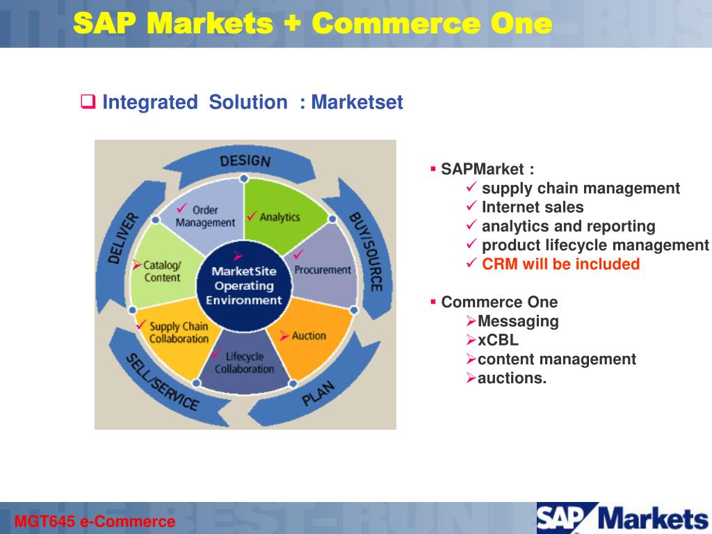SAP Markets + Commerce One