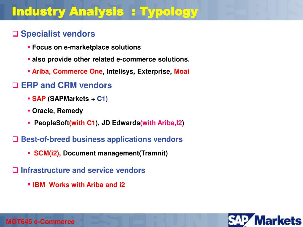Industry Analysis  : Typology