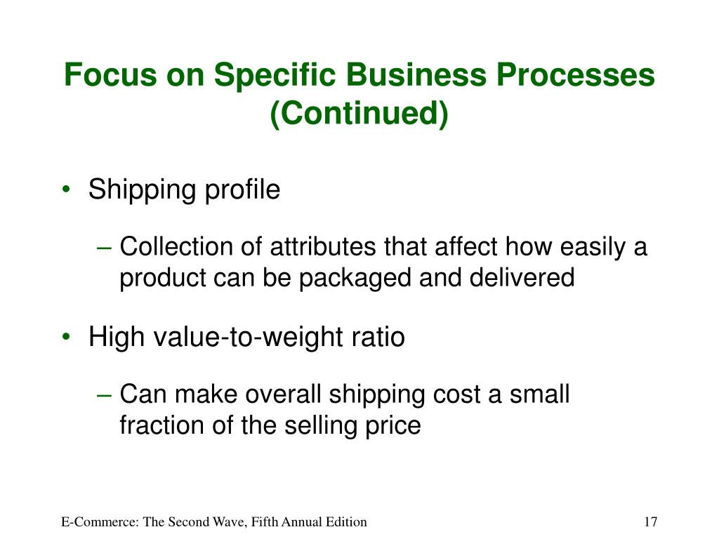 Focus on Specific Business Processes (Continued)