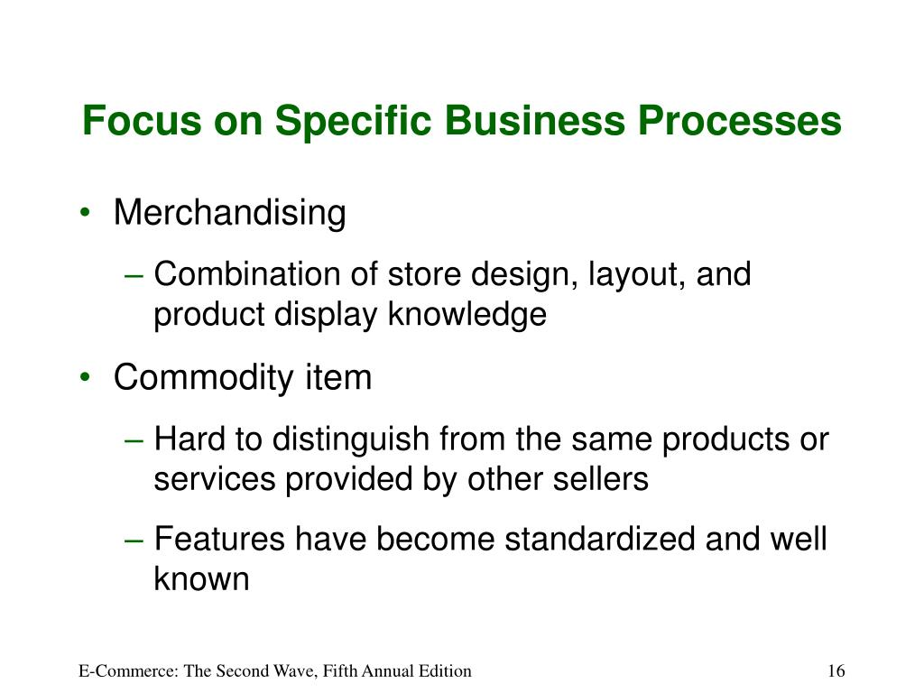 Focus on Specific Business Processes