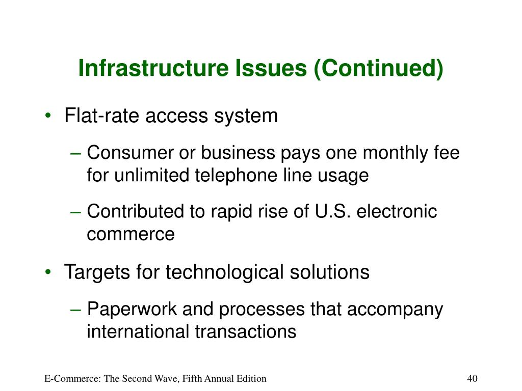 Infrastructure Issues (Continued)