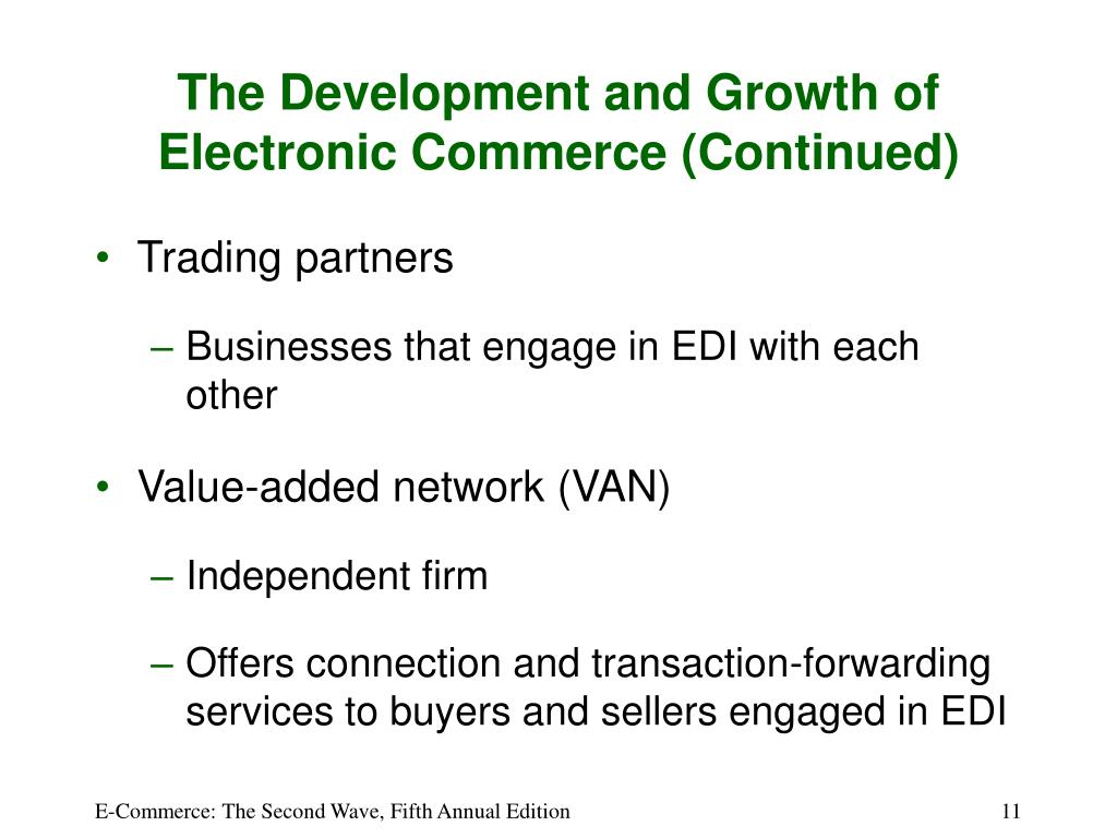 The Development and Growth of Electronic Commerce (Continued)