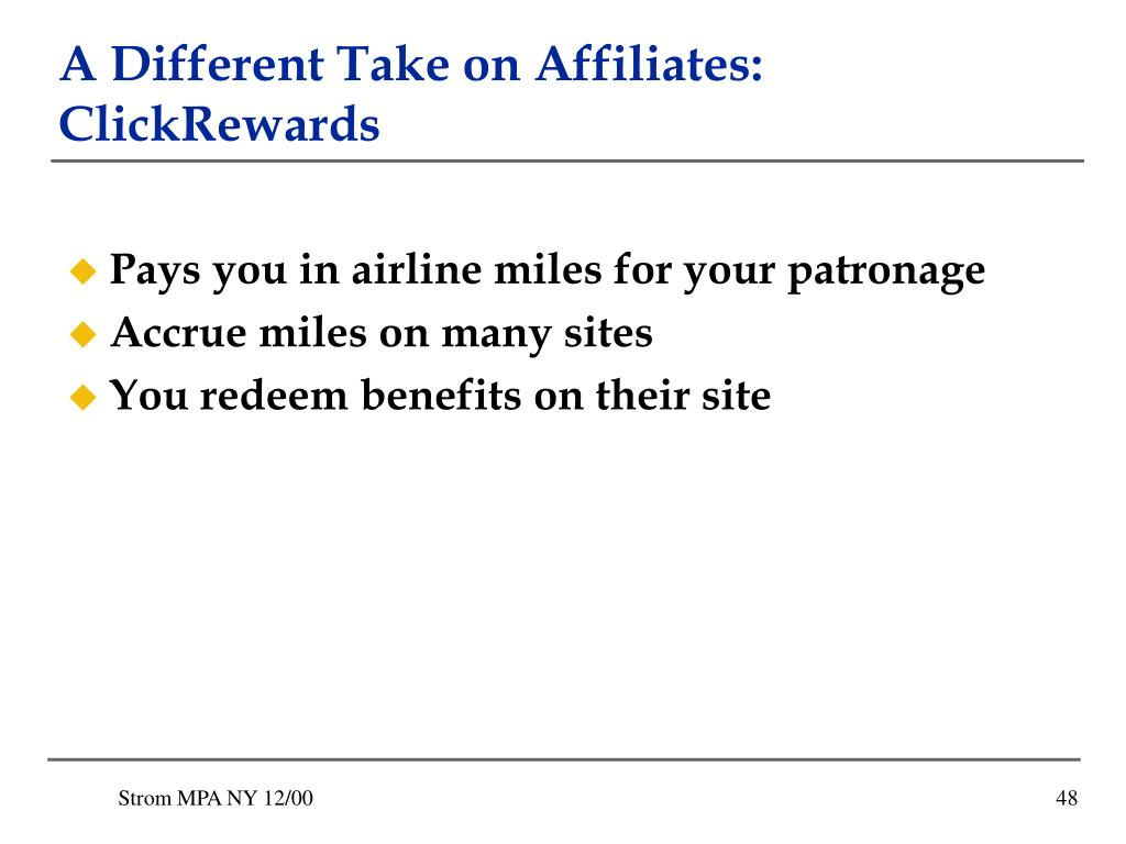 A Different Take on Affiliates: ClickRewards