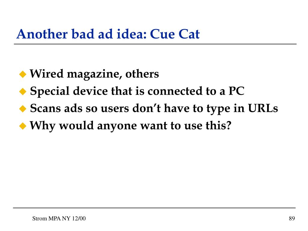 Another bad ad idea: Cue Cat