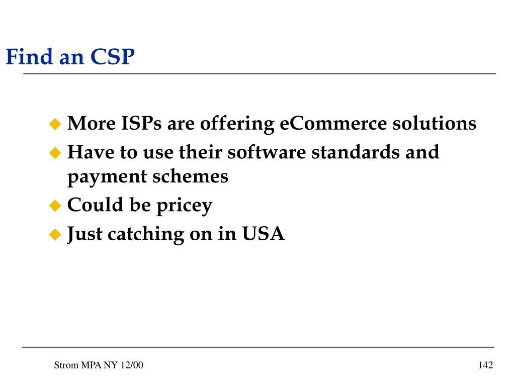 Find an CSP