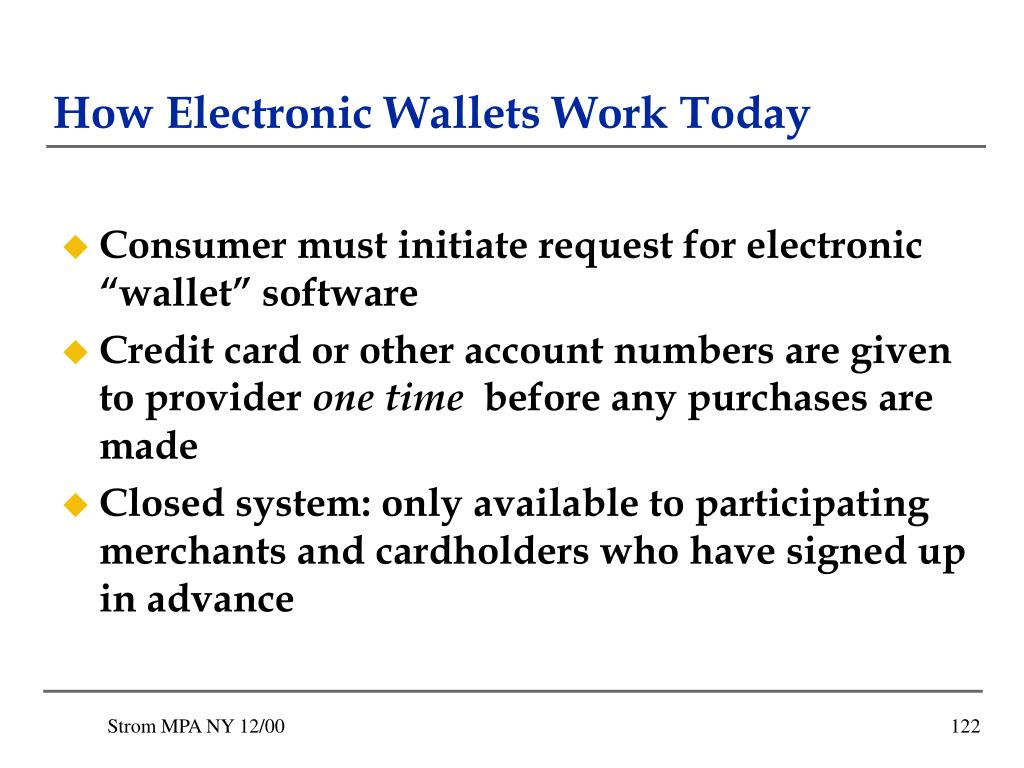 How Electronic Wallets Work Today