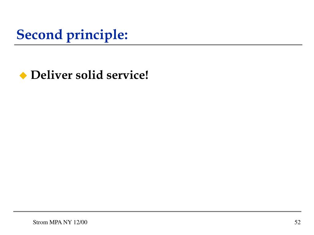 Second principle: