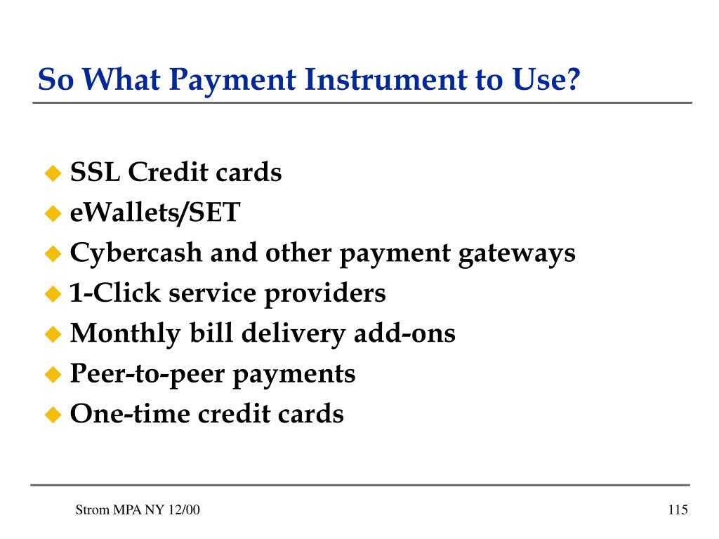 SSL Credit cards