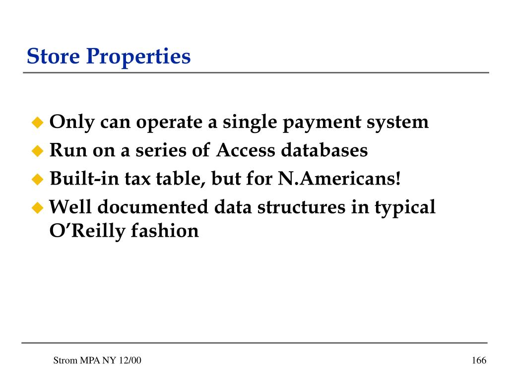 Store Properties