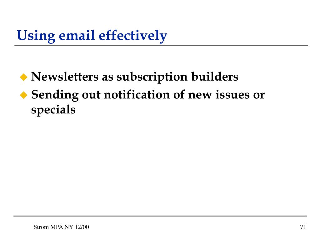 Using email effectively