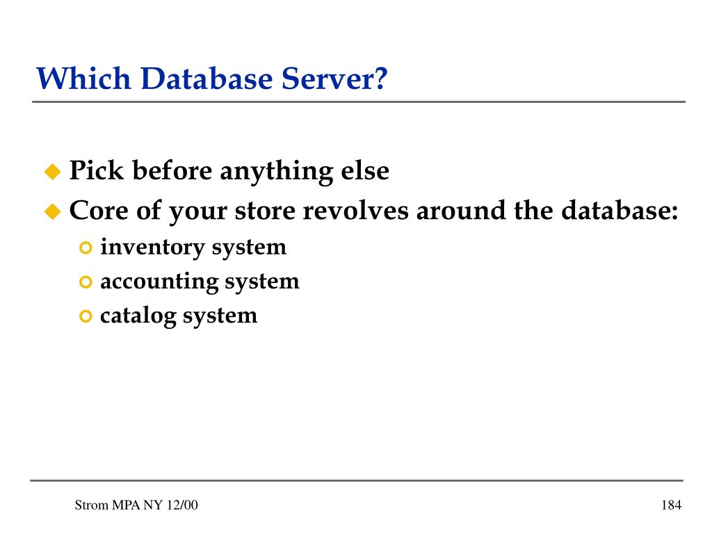 Which Database Server?