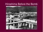hiroshima before the bomb