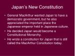 japan s new constitution