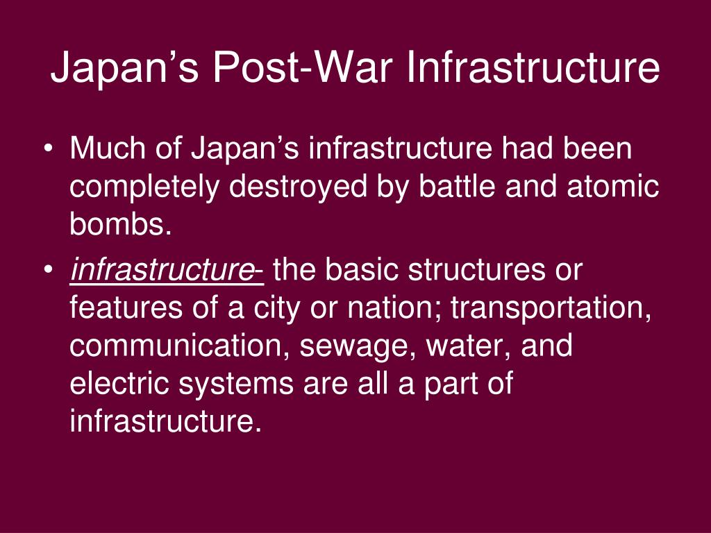 Japan's Post-War Infrastructure