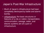 japan s post war infrastructure
