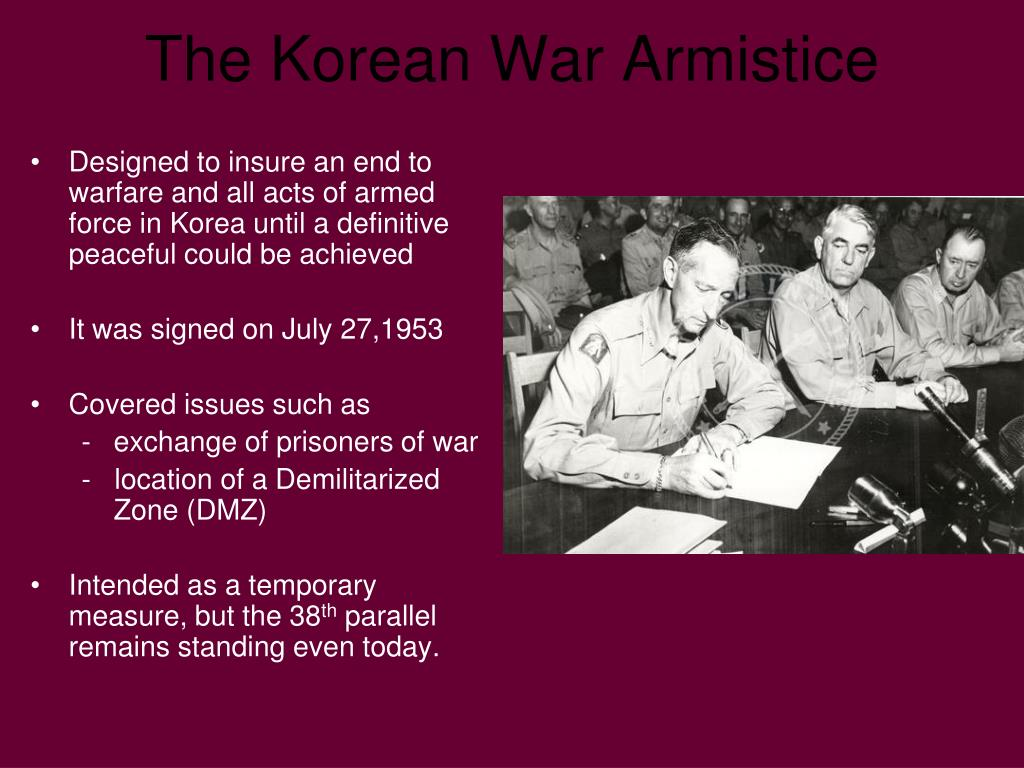 Designed to insure an end to warfare and all acts of armed force in Korea until a definitive peaceful could be achieved