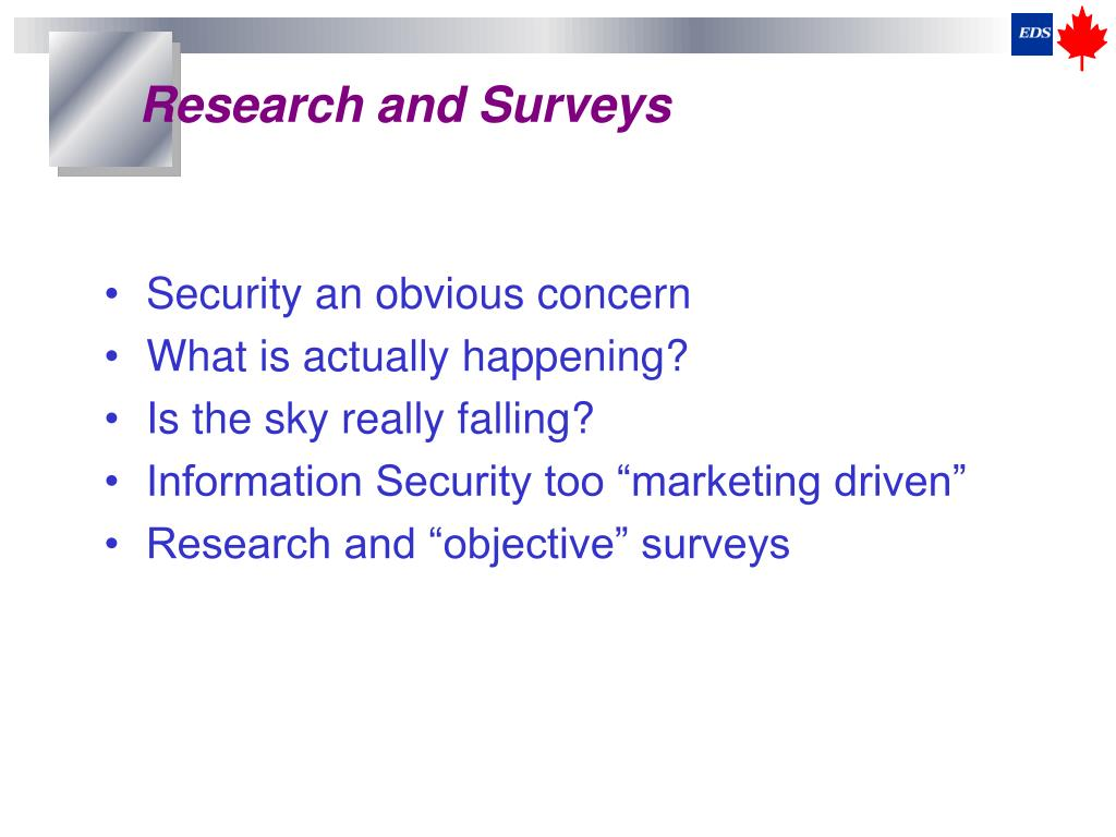 Research and Surveys