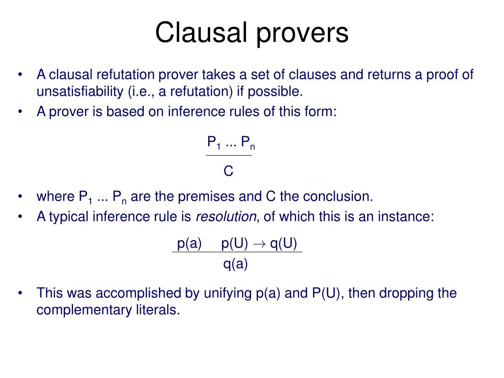 Clausal provers