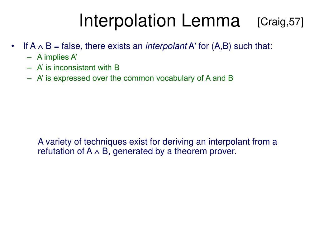 Interpolation Lemma