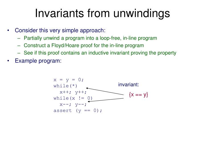 Invariants from unwindings