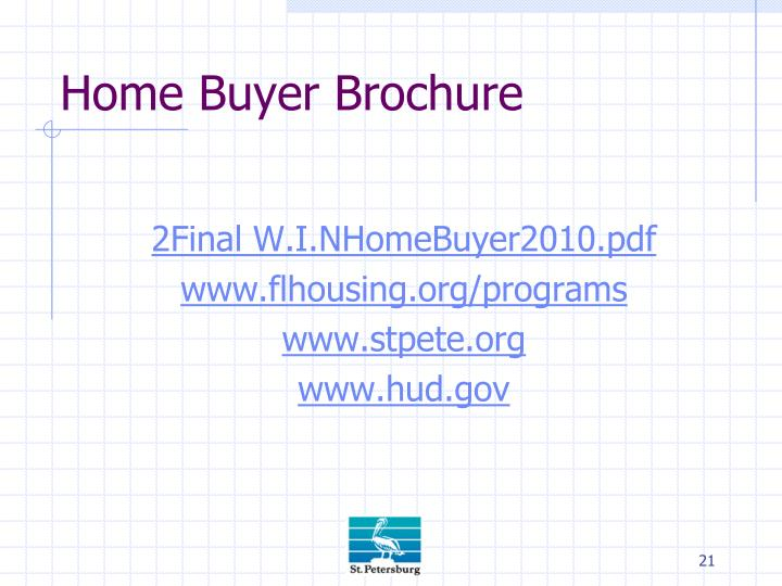 Home Buyer Brochure