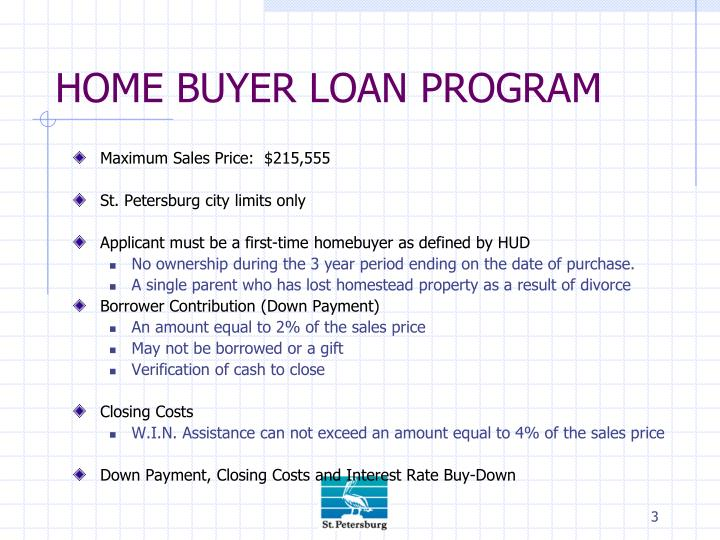 Home buyer loan program