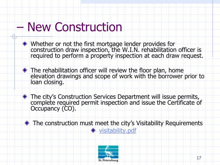 – New Construction
