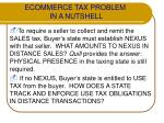 ecommerce tax problem in a nutshell